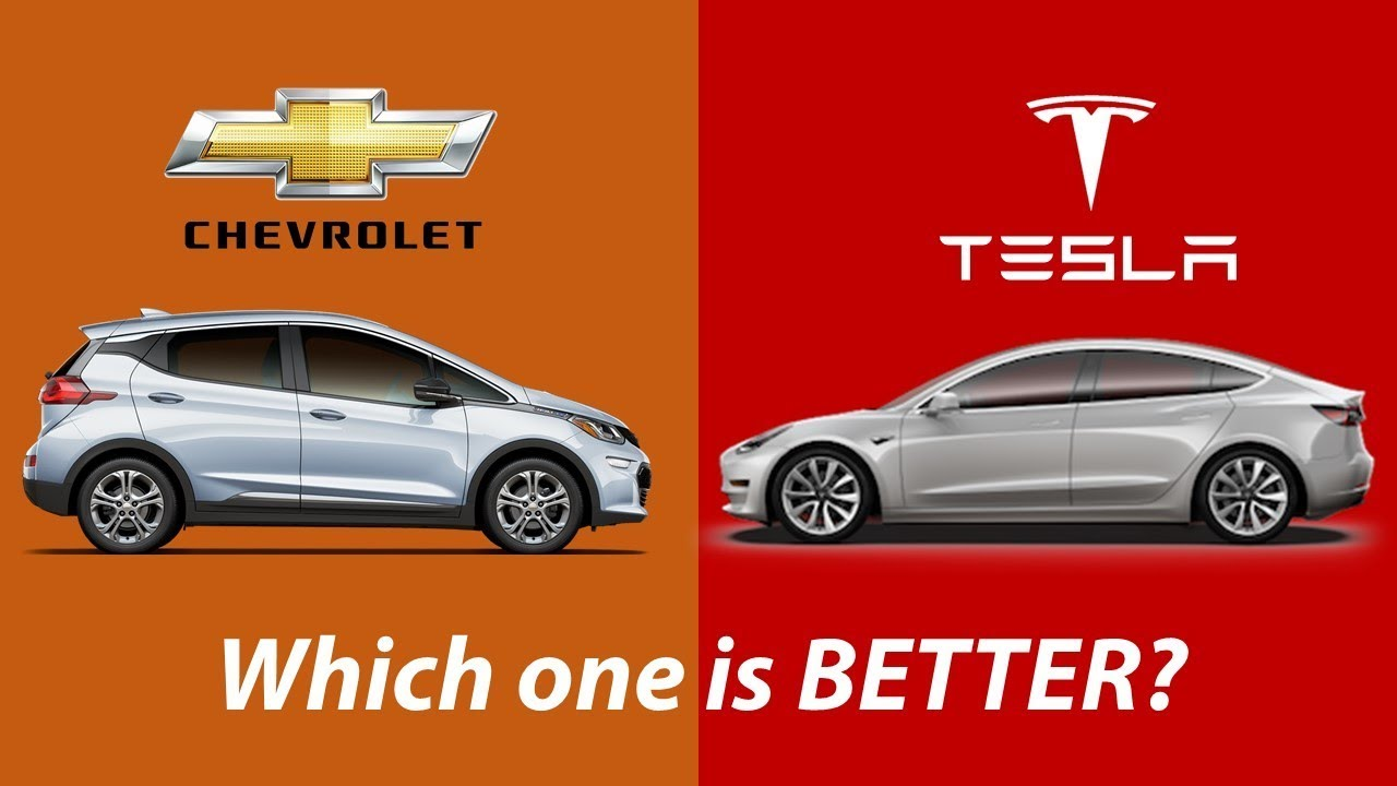 tesla model 3 vs chevy bolt which one is better youtube. Black Bedroom Furniture Sets. Home Design Ideas