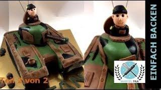 Panzer 3D Torte | Teil 1 von 2 | tank cake
