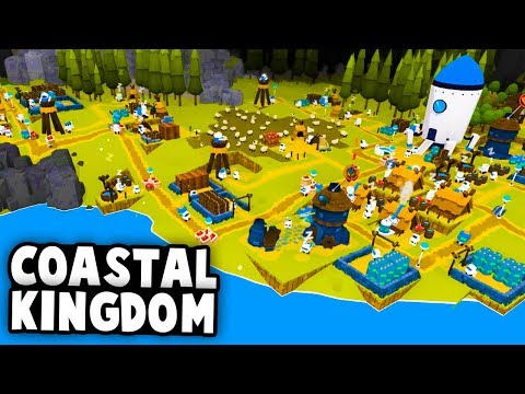 Kingdoms and Robots! Building an Epic Coastal Kingdom! (The Colonists Gameplay)