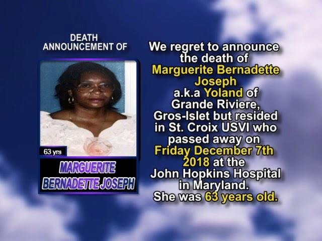 Marguerite Bernadette Joseph short