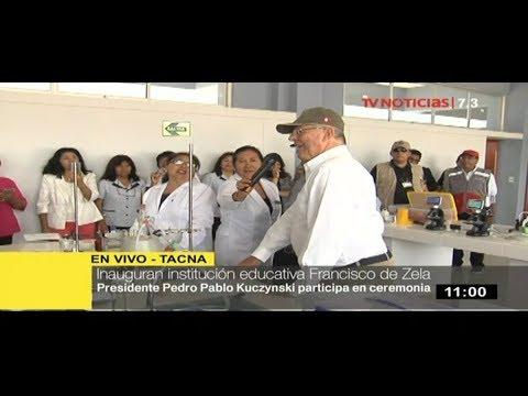 Presidente Kuczynski inaugura institución educativa en Tacna