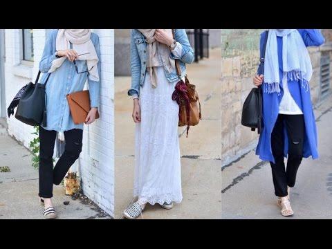 7a7b884c6df97 Casual Hijab Fashion - back to School 2016 - ملابس محجبات أنيقة للبنات-  العودة للمدرسة