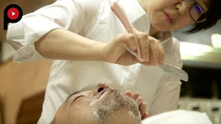 Receive the Full Treatment at a Japanese Barber Shop