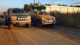 Тест-драйв Lexus LX после рестайлинга по грязи