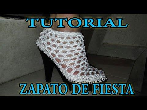 ZAPATOS DE FIESTA - MODELO CORAL - ZAPATOS TEJIDOS EN CROCHET - IRINA ASCENCIO