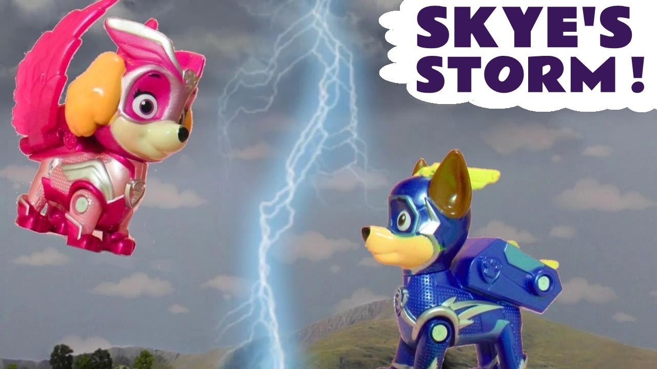 Rescue Mission with Paw Patrol Mighty Pups Charged Up Skye and the Family Friendly Funny Funlings