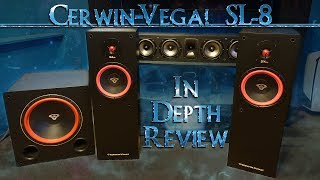 Cerwin Vega SL-8 Home Theater Tower Speakers In Depth Review