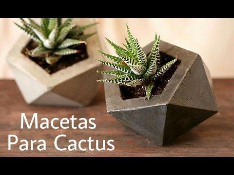 Macetas para cactus youtube - Macetas para pared ...