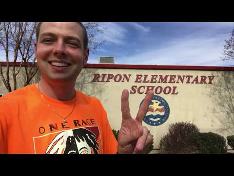 Mr. Peace Visits Ripon Elementary School in Ripon, California