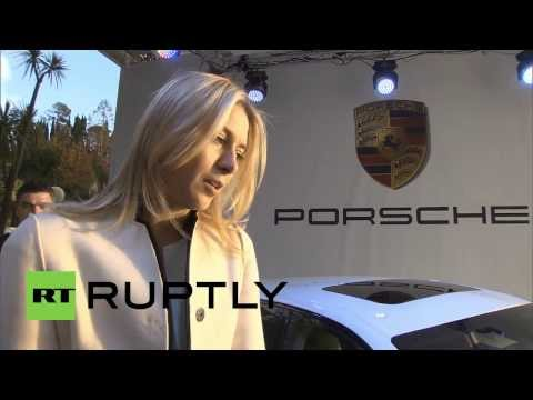 Russia: Maria Sharapova presents personalised Porsche in Sochi