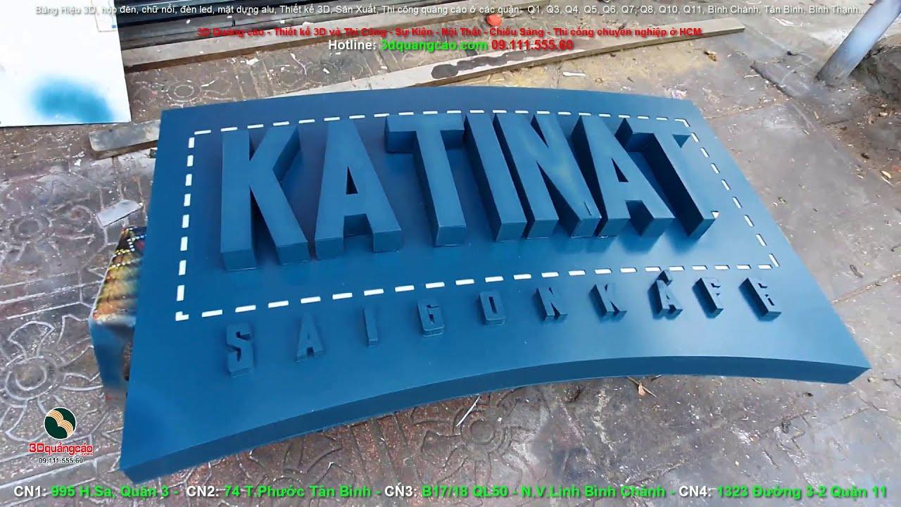 Hộp đèn đẹp Katinat thi công sản xuất độc quyền theo thiết kế 3D thi công quảng cáo ở saigon