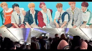Big Hit Entertainment staff posts video showing how many sasaengs boarded the same plane as BTS