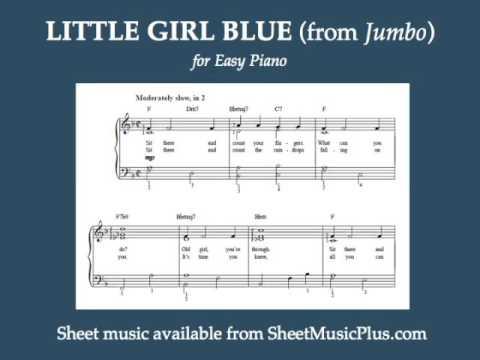 Little Girl Blue from Jumbo, for Easy Piano