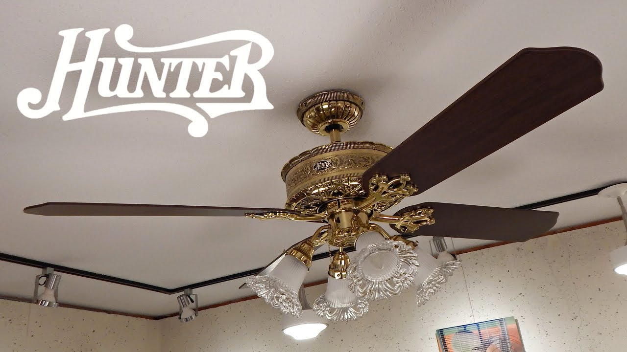 Hunter 1896 Art Nouveau Ceiling Fan 1080p Hd Remake
