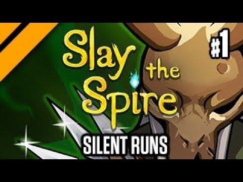Slay the Spire  Silent Runs  Mass Armor + Poison Builds! P1