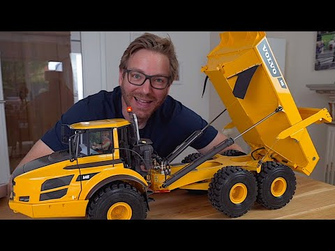 REVIEW Of AMAZING RC Dump Truck With Hydraulics 6x6 I RC Truck Action Studio