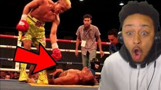FILIPINO BOXER SENDS COCKY OPPONENT TO THE HOSPITAL!!
