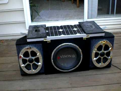 Portable Solar Car Stereo
