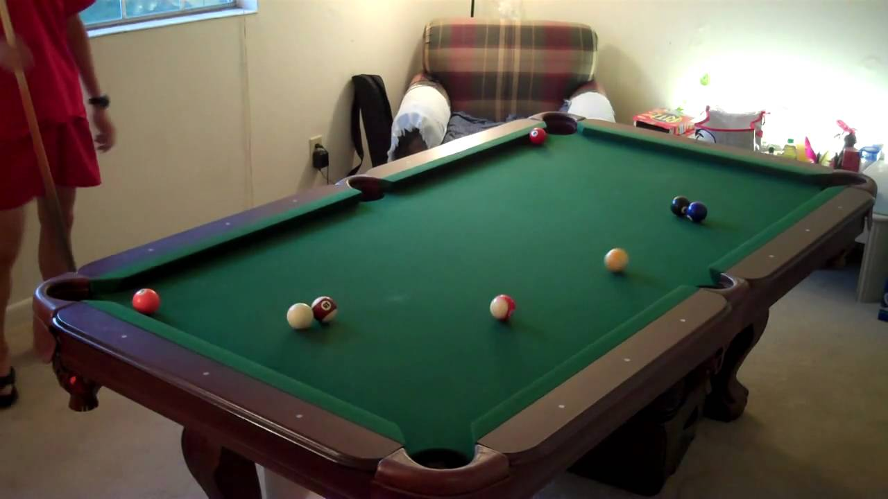 SportCraft In Kingsford Billiard Table With Cue Rack YouTube - Sportcraft 7ft pool table review