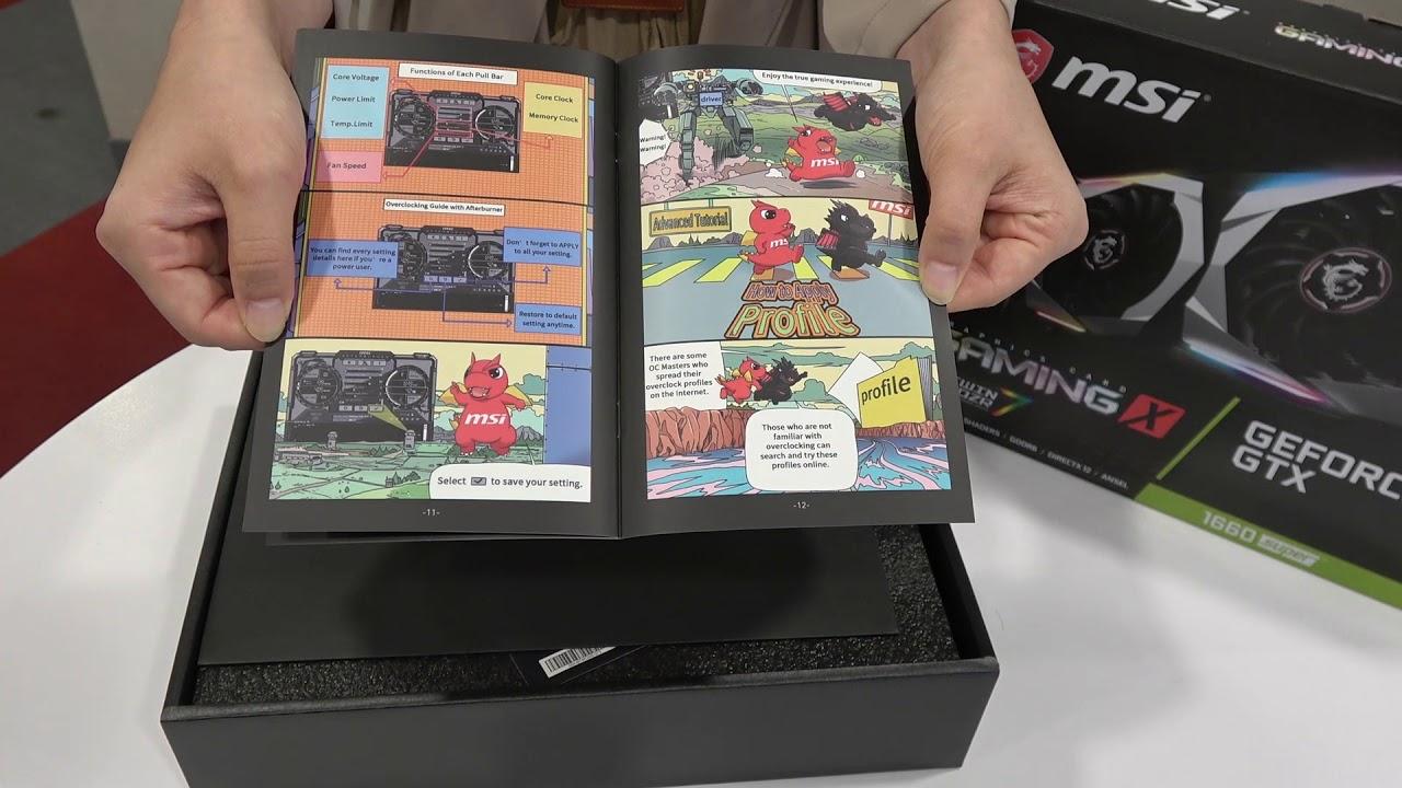 MSI GeForce® GTX 1660 SUPER™ GAMING X - UNBOXING