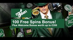 100 FREE Spins Mr Green Casino