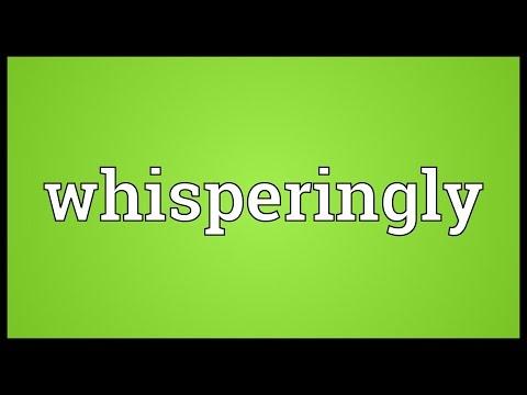 Header of whisperingly