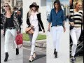 How to wear white jeans in different ways