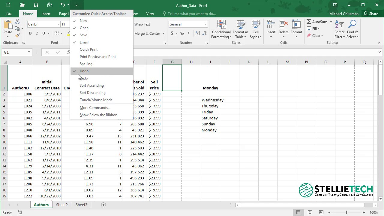 how to add toolbars on excel 2016