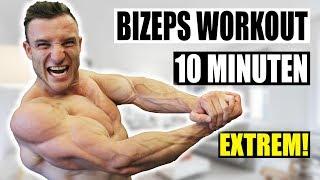 10 Minuten Bizeps Workout für Zuhause | Kombinationsworkout für Qualitätsmuskulatur - Sascha Huber