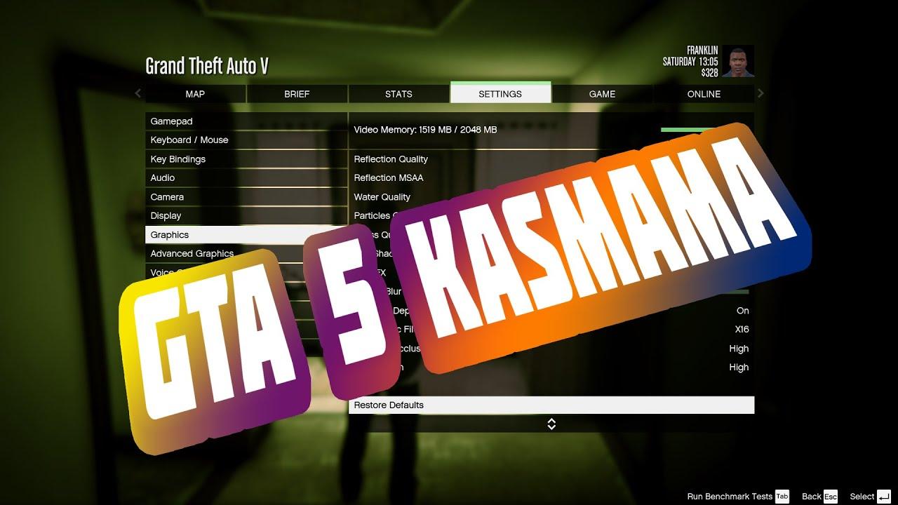GTA 5 ayarlar,  Kasmama Ayarları - Kasmayı Minimuma İndirmek - Sistemi Yettiği Halde Erdem Güneş