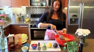 Southwestern Chicken Quinoa Lettuce Wraps
