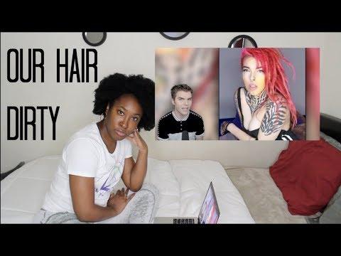 Onision White Hair Vs  Black Hair   REACTION   TF??!