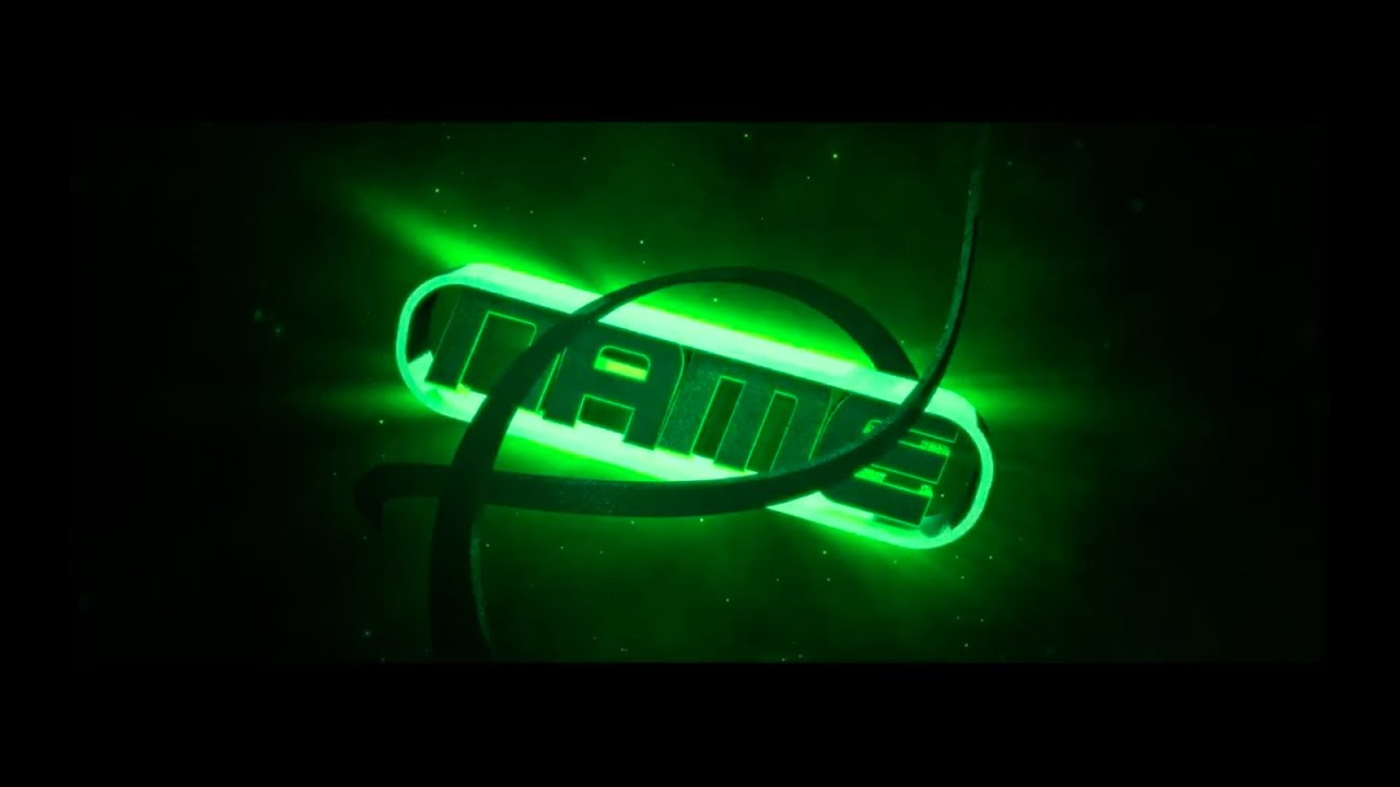 FREE 3D Green Burst Intro Template #76 - YouTube