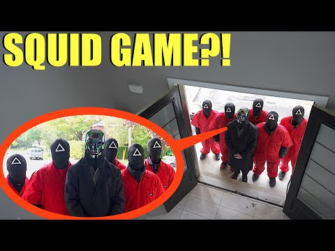 when you see the Squid Game Guards outside your house, Lock your doors and RUN! (They want to Play)