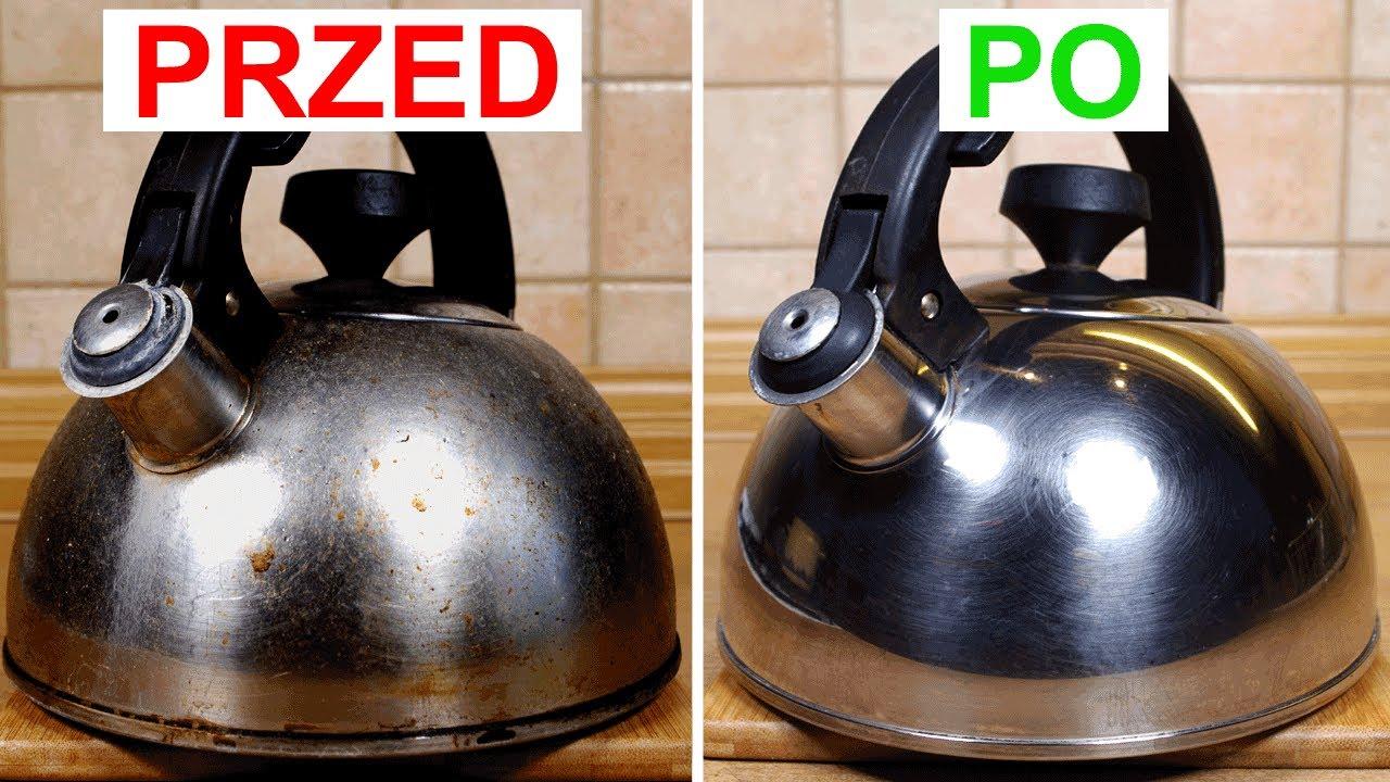 Jak wyczyścić i odkamienić czajnik ze stali nierdzewnej | Bez szorowania | Stary czajnik jak nowy :)