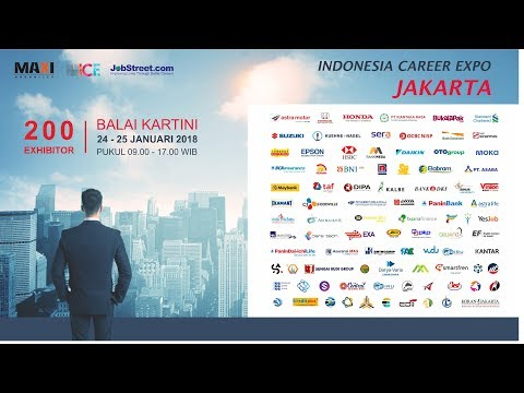 200 Perusahaan  Job Fair Jakarta 24 - 25 Januari 2018, Gd. Balai Kartini