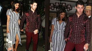 Omg ! Nick Jonas and Priyanka Chopra hand in hand on pre birthday date night