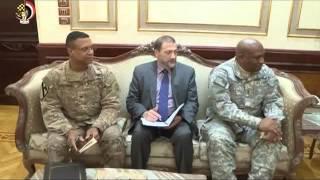 بالفيديو و الصور..الفريق محمود حجازي يلتقي قائد القوات البرية الأمريكية