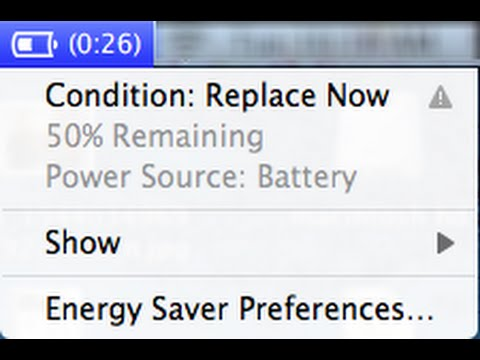 Will Bad CONDITION: REPLACE NOW Battery Slow Macbook Pro Air Power ...