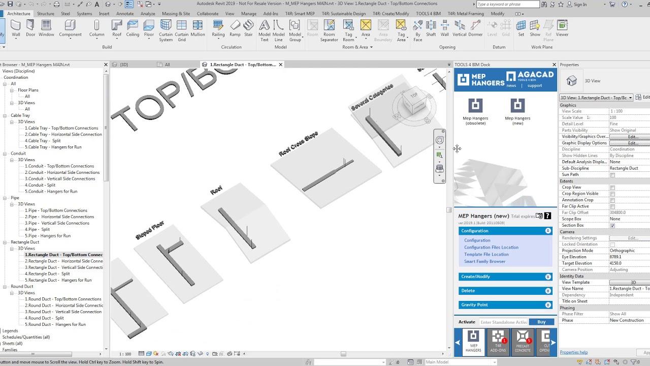 Hangers & Supports Distribution in Revit® MEP | Smart Hangers