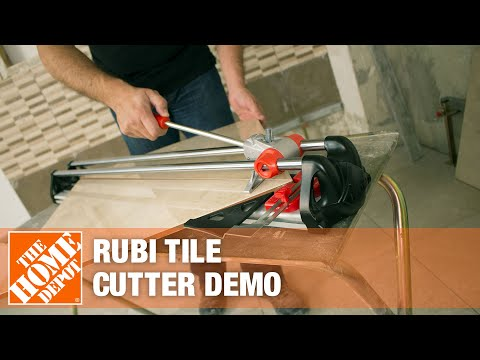 Rubi Tile Cutters Demonstration The Home Depot Youtube
