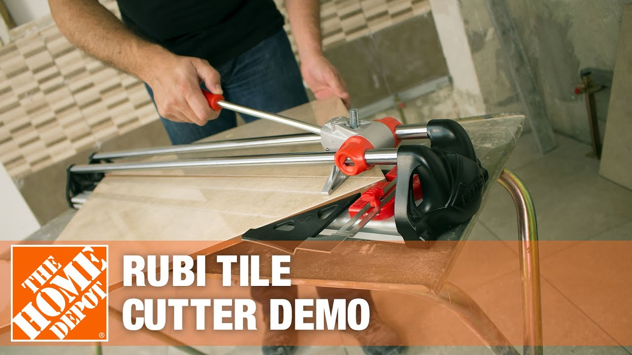 Rubi Tile Cutters Demonstration Youtube