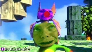 NEW Yooka-Laylee Video Game! HobbyPig Plays Bat + Chameleon. Family Fun Skit HobbyKidsTV