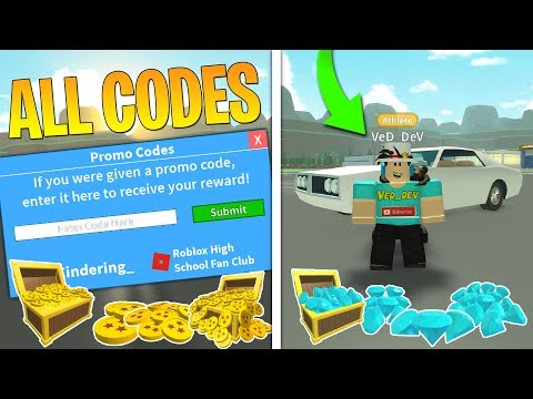 All Secret Codes In Roblox High School 2 Youtube