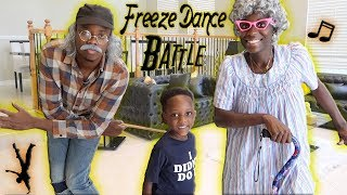 Freeze Dance Challenge With Greedy Granny & Grumpy Grandpa