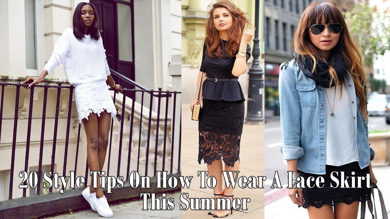 2f6c905c78f 20 Style Tips On How To Wear A Lace Skirt This Summer - YouTube
