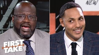 Download Shaq in shock after Hollins says neither Kobe nor MJ can fill LeBron's shoes | First Take Mp3 and Videos