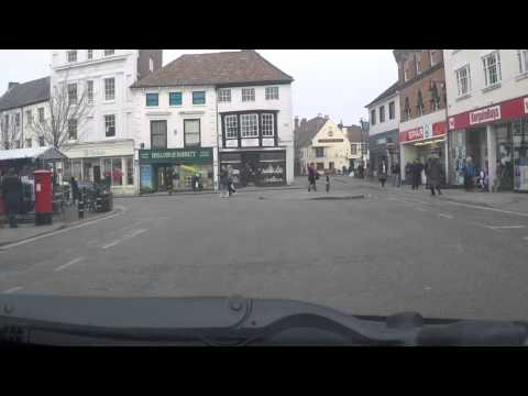 Louth Town Centre - by car
