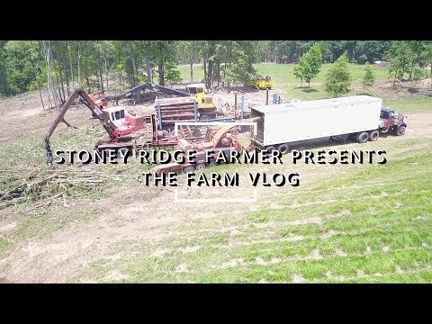 FARM TOUR VIA DRONE! TIMBER CREW AT WORK! Pasture Planning, forest management, DRONES FOR FARMING??