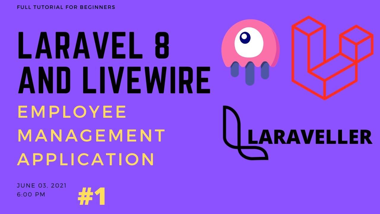 Laravel Livewire Tutorial - Employees Management Project - Setup Application #1